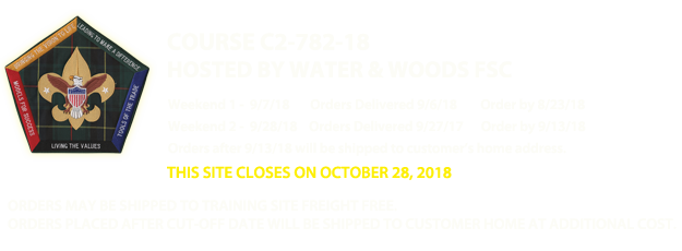 Water & Woods Field Service Council C2-782-18